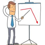 Confused Salesman Showing Falling Sales Graph [Image ? natashin - Fotolia.com]